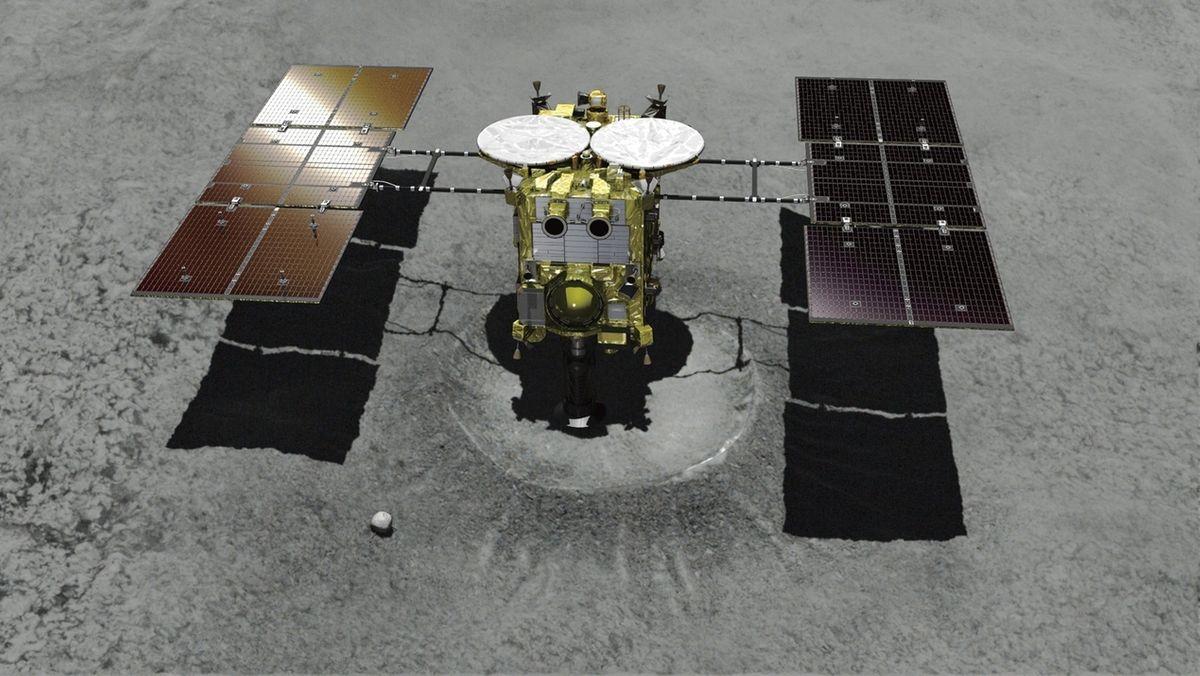Hayabusa 2 bei Landung