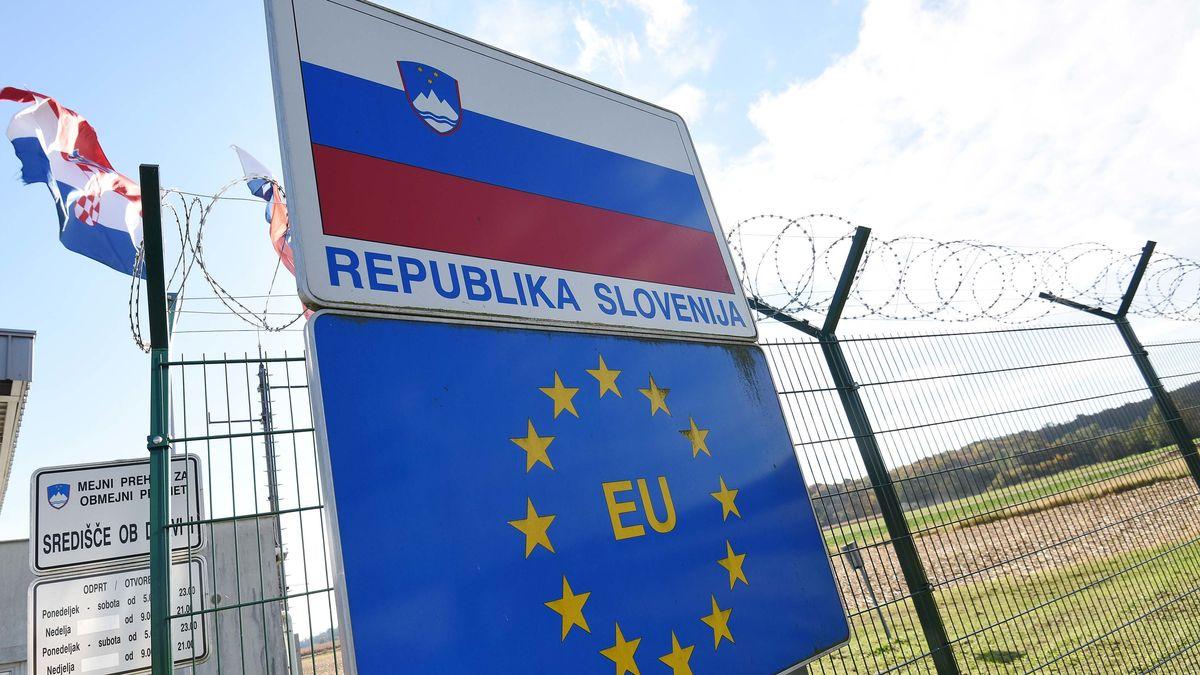 Slowenischer Grenzübergang