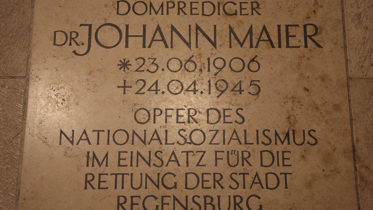 Steinernes Andenken an Johann Maier