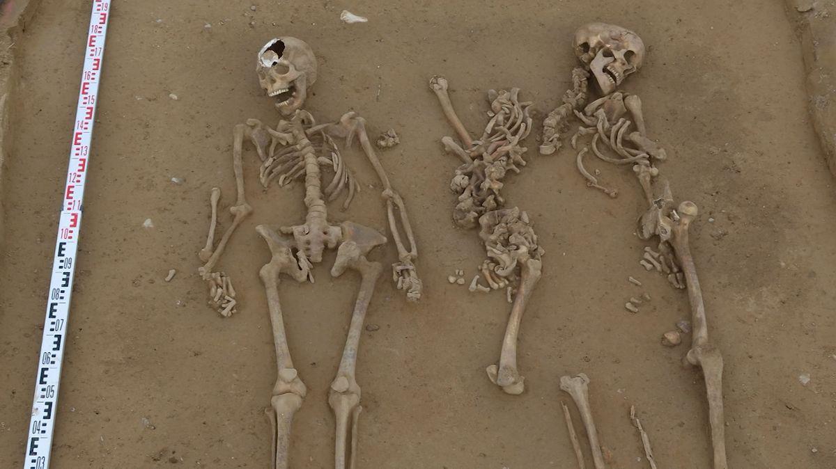 Am Polder Sulzbach laufen derzeit Ausgrabungen: Auch menschliche Skelette wurden gefunden.