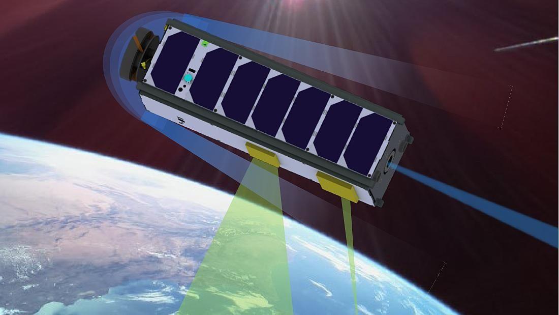 Der Satellit LoLaSat aus Würzburg - ein kleiner Niedrigflieger.
