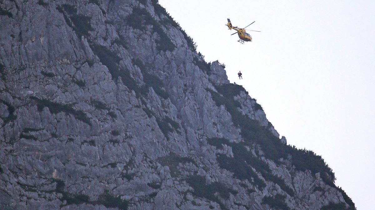 Rettungseinsatz am Untersberg.