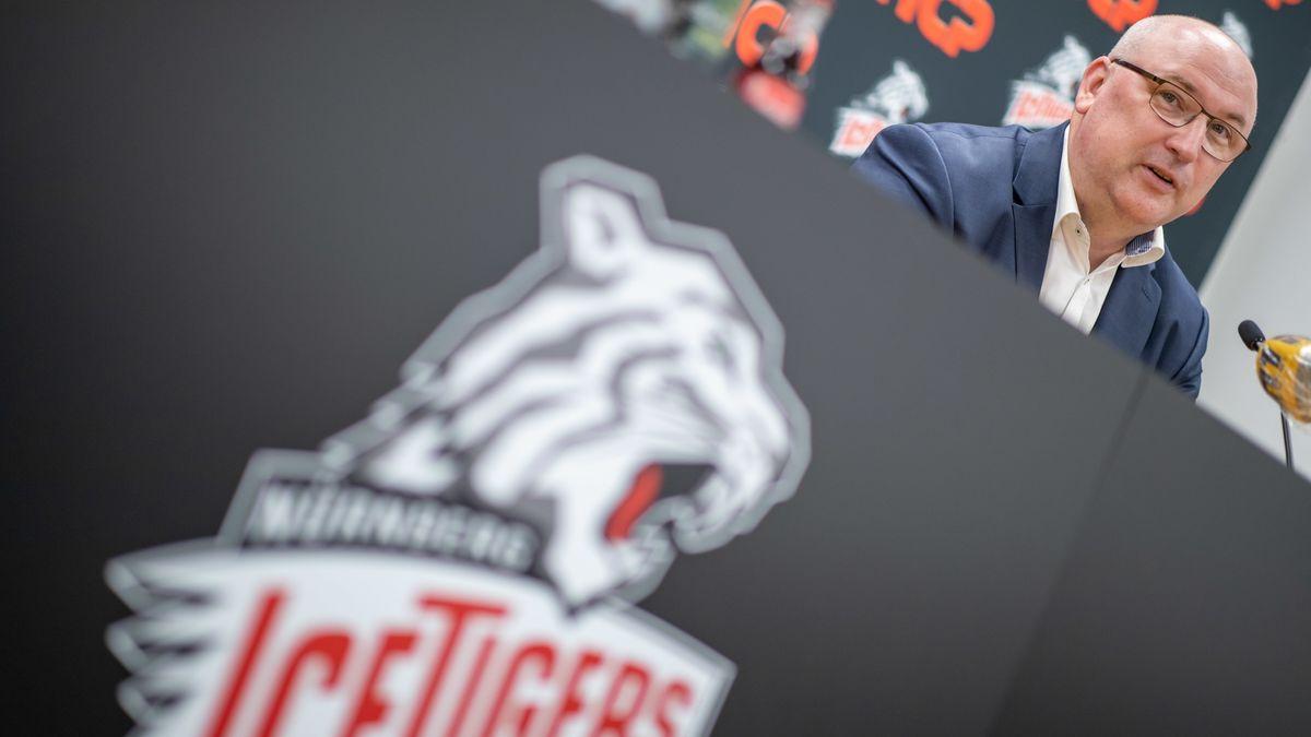 Ice-Tigers-Logo und der neue Trainer Frank Fischöder