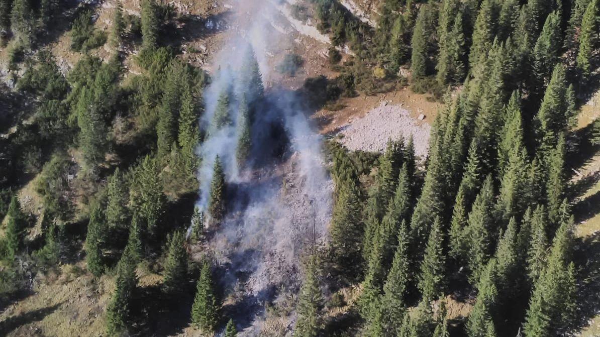 Waldbrand an der Maroldschneid