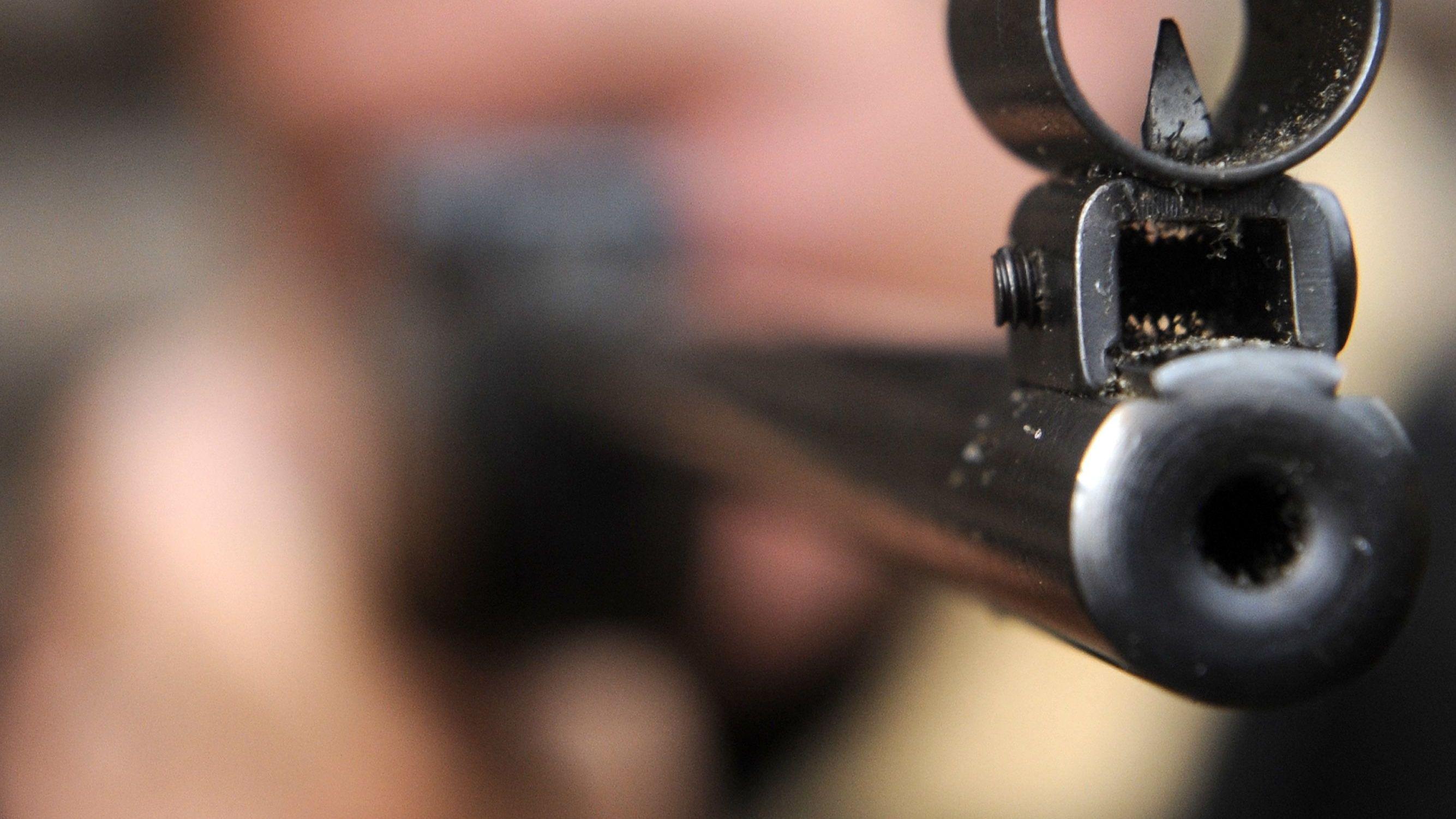 Die Mündung eines Luftgewehrs