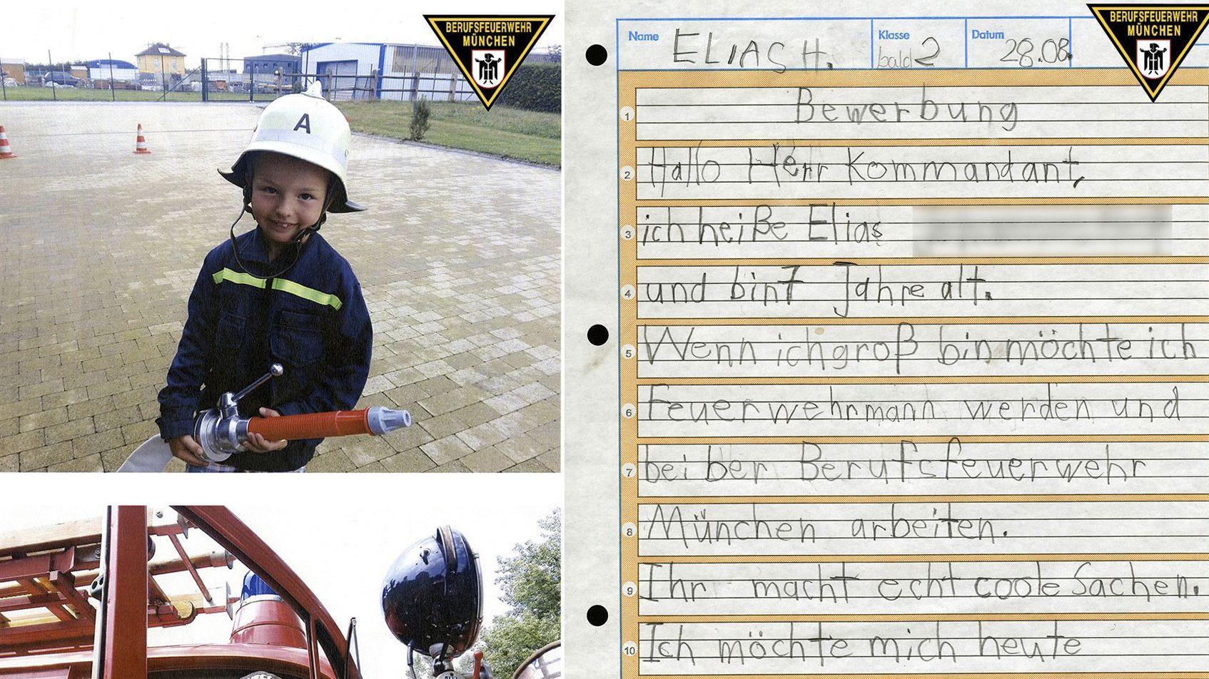 """""""Echt coole Sachen"""": 7-Jähriger bewirbt sich bei der Feuerwehr"""