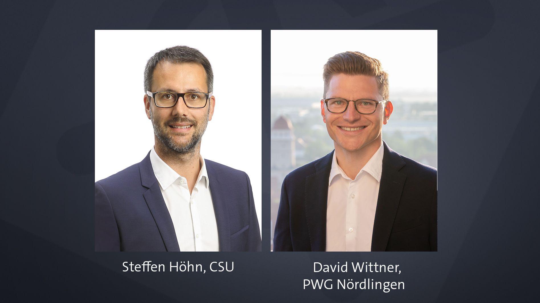 Steffen Höhn und David Wittner: die OB-Kandidaten in der Nördlinger Stichwahl