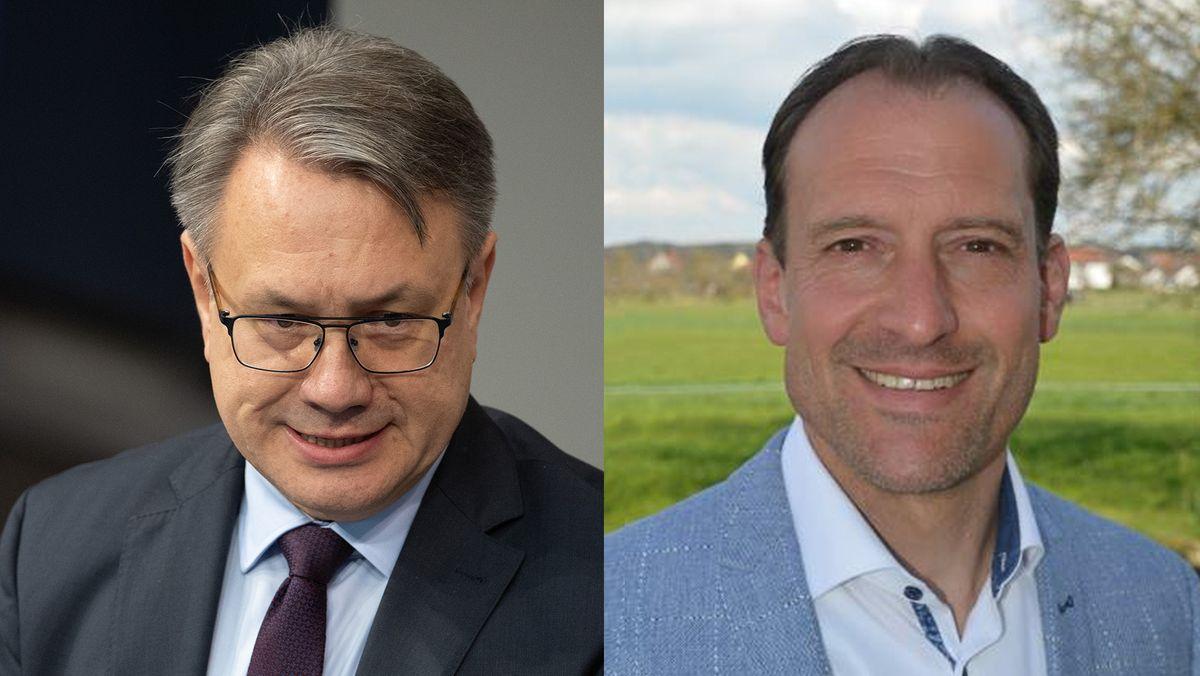 Georg Nüßlein (links) und der neue Kandidat für den Bundestagswahlkreis Neu-Ulm Alexander Engelhard
