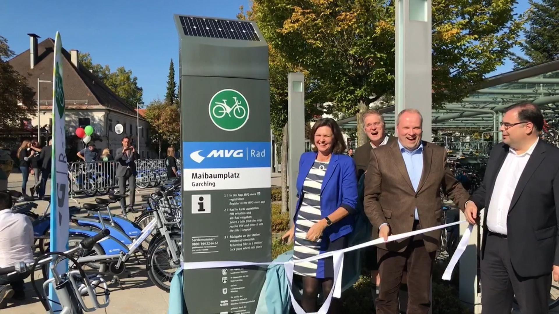 Eröffnung der MVG-Radstation in Garching vergangenen Oktober