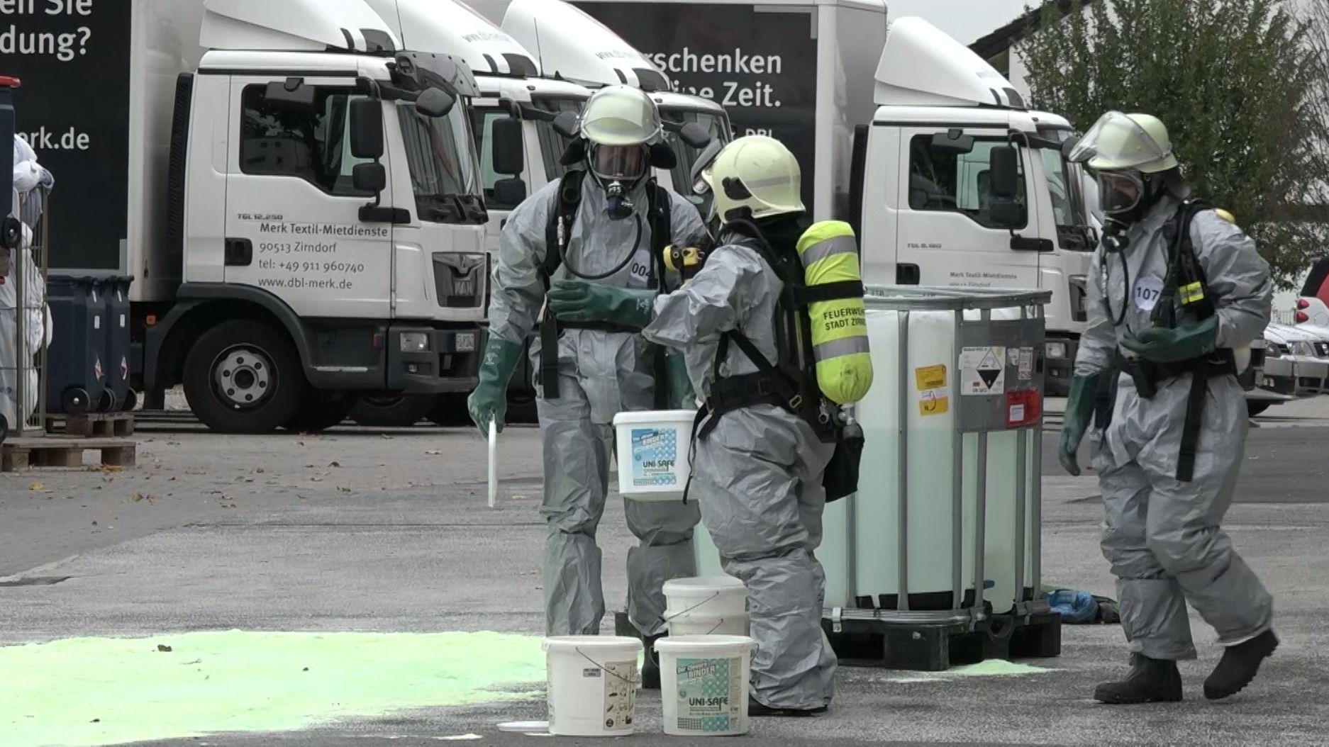 Gefahrgut-Einsatz für die Feuerwehr