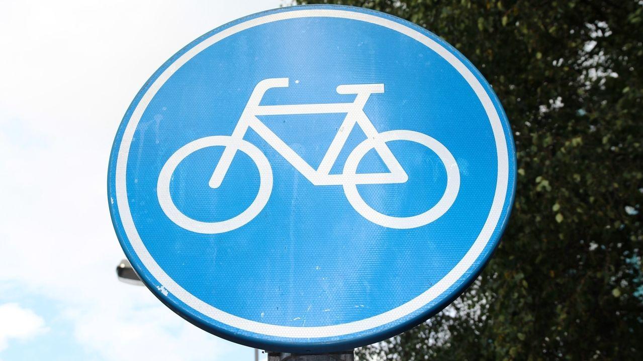 Verkehrsschild für Radwege