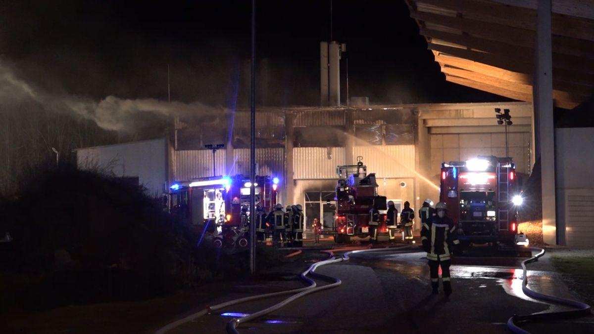 Brand bei Brauerei in Moos.