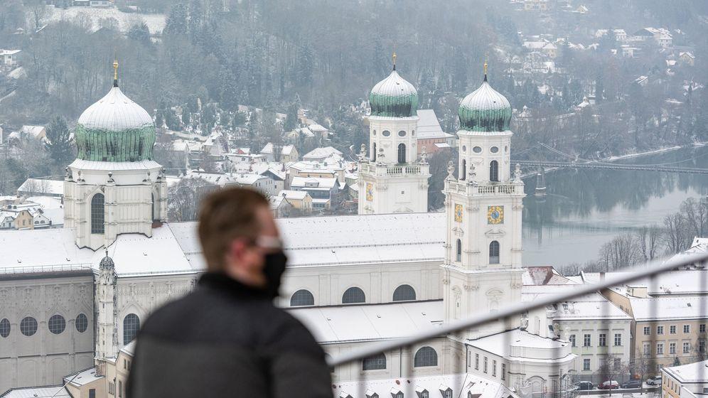 Blick auf Passau | Bild:dpa-Bildfunk/Armin Weigel