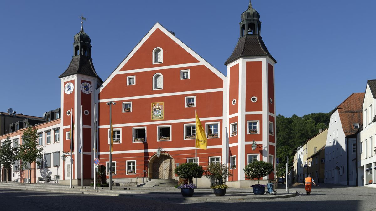 Das Rathaus in Burglengenfeld