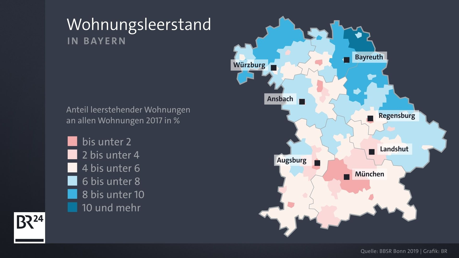 Wohnungsleerstand in Bayern