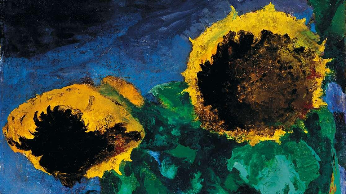 Emil Nolde, Reife Sonnenblumen, 1932, Öl auf Leinwand