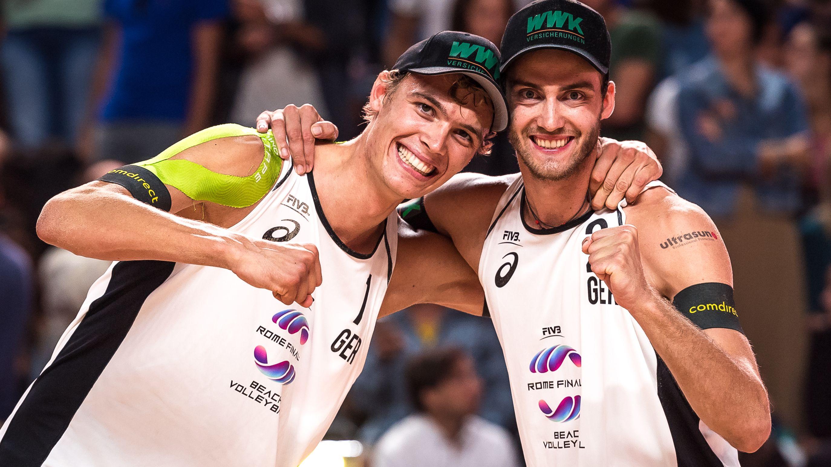 Beachvolleyball-Duo Clemens Wickler und Julius Thole