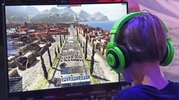 Ein Computer-Gamer am Bildschirm | Bild:pa / dpa / mirafoto