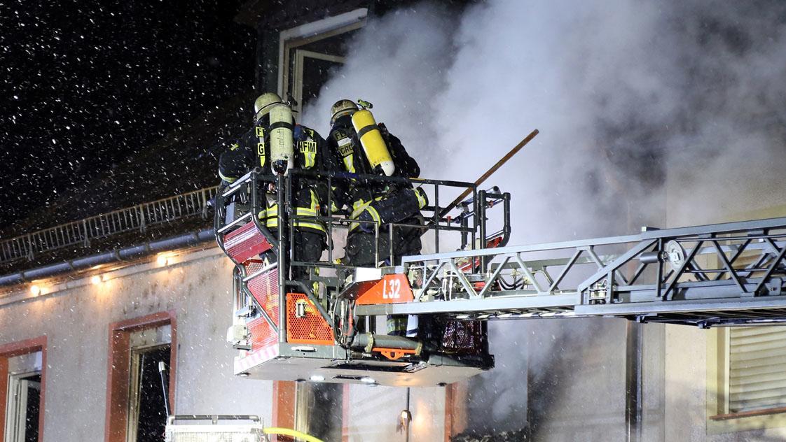 Wohnhausbrand in Stockstadt am Main