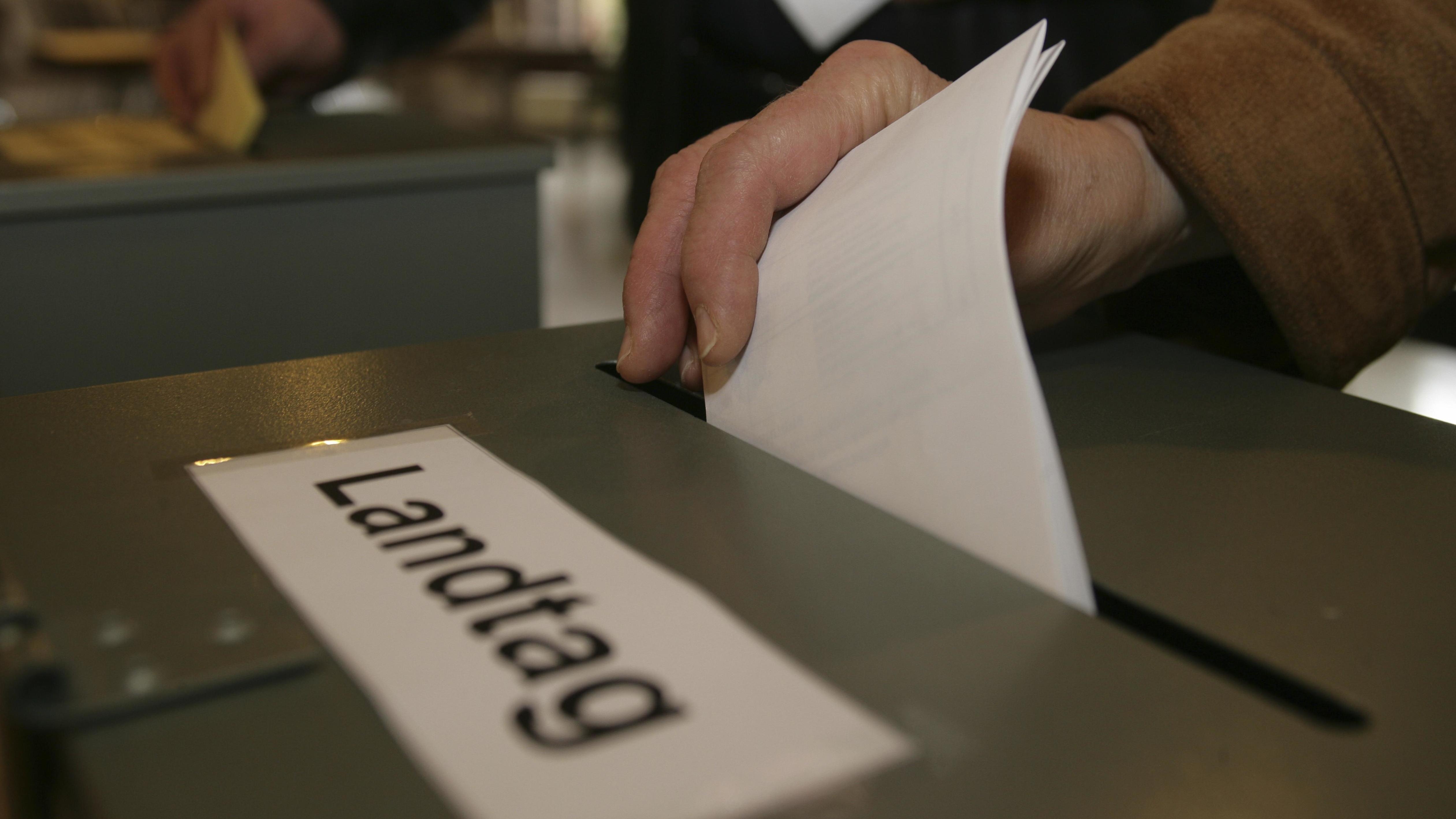 Stimmabgabe Landtagswahl