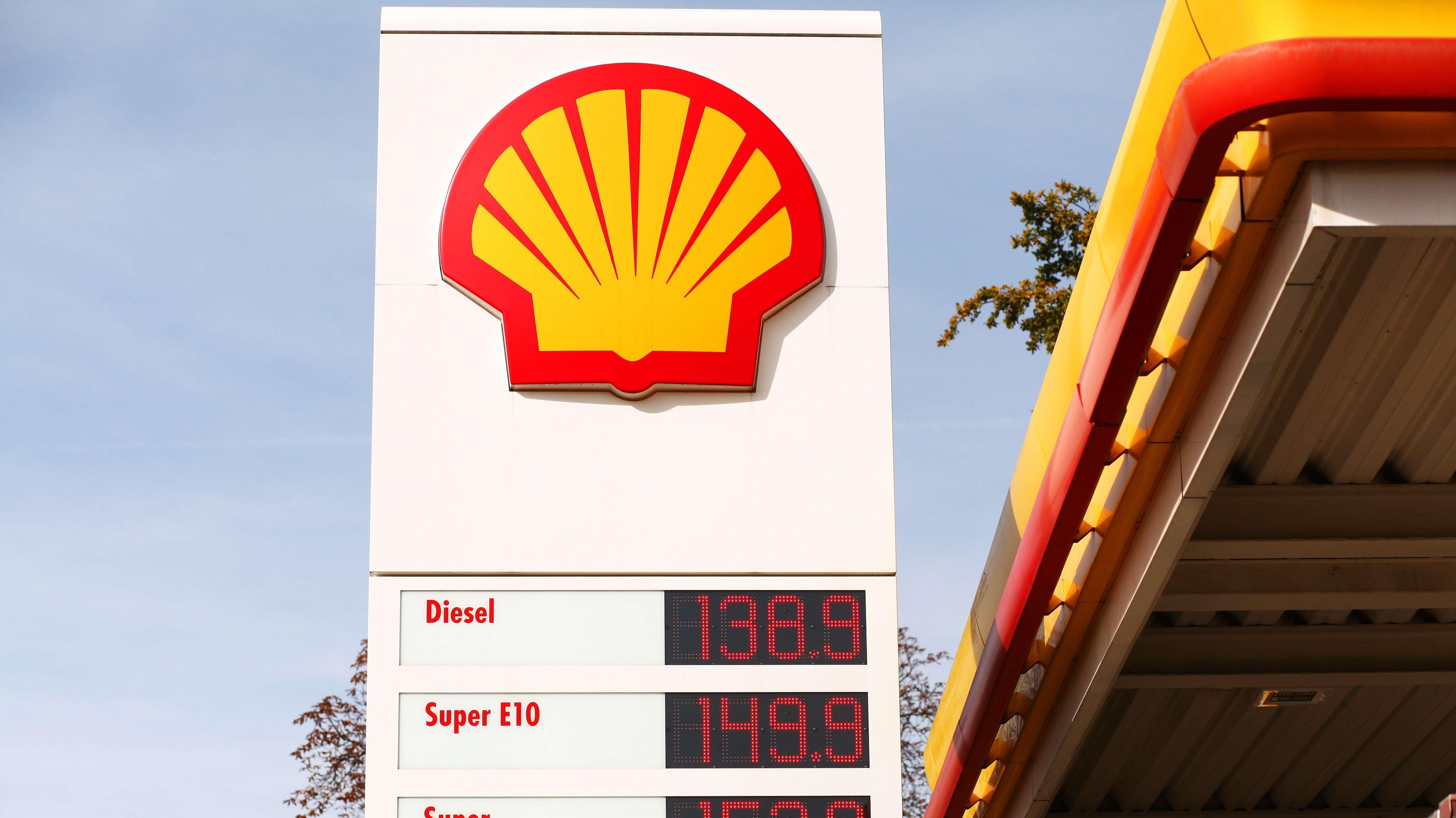 Das Logo einer Shelltankstelle.