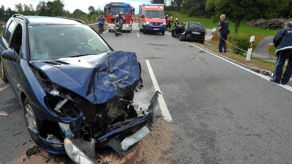 Die Unfallstelle bei Breitenberg