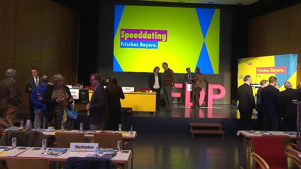 Delegiertenkonferenz der bayerischen FDP für die Europawahl in Amberg | Bild:BR