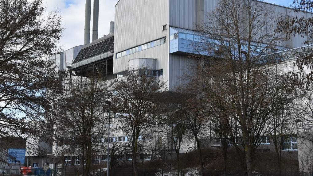Außenaufnahme des Müllheizkraftwerks in Weißenhorn im Landkreis Neu-Ulm