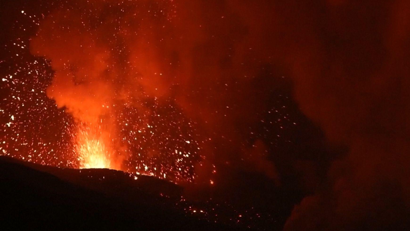 Aktiver Vulkan auf Sizilien
