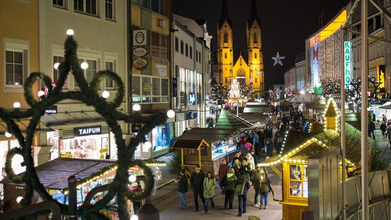 Weihnachtsmarkt in Hof (Archivbild)
