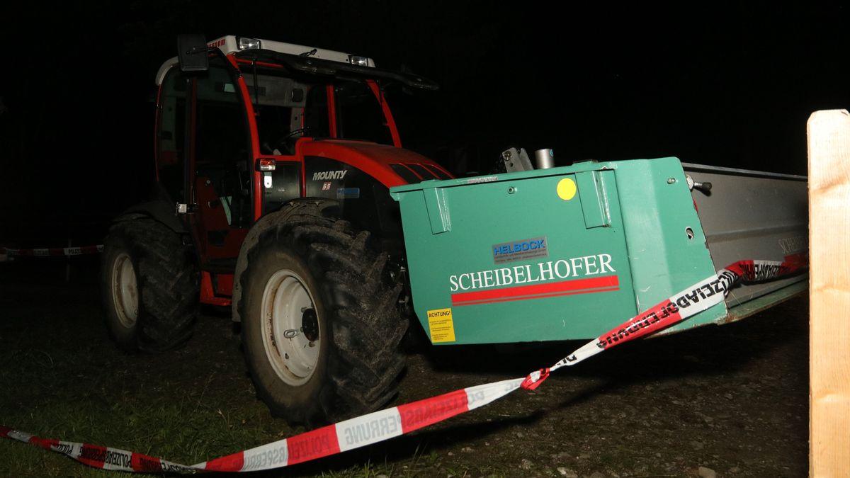 Traktor mit Container