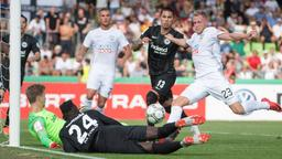 Das 1:0 von Ulm gegen Frankfurt   Bild:picture-alliance/dpa