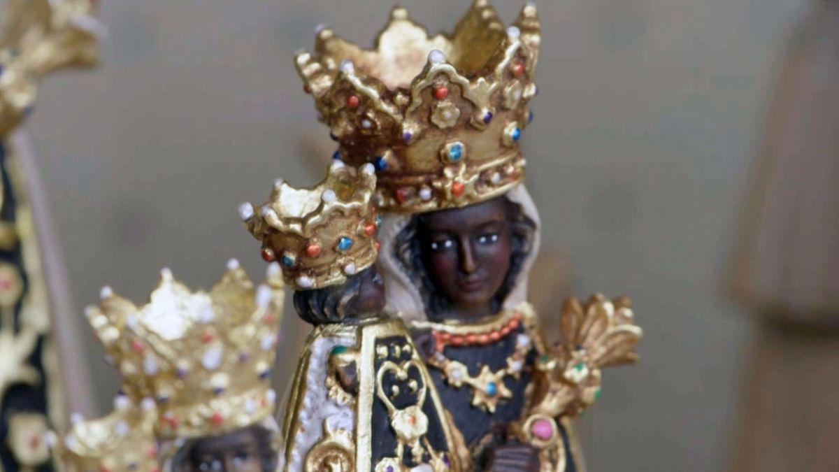 Die schwarze Madonna von Altötting.