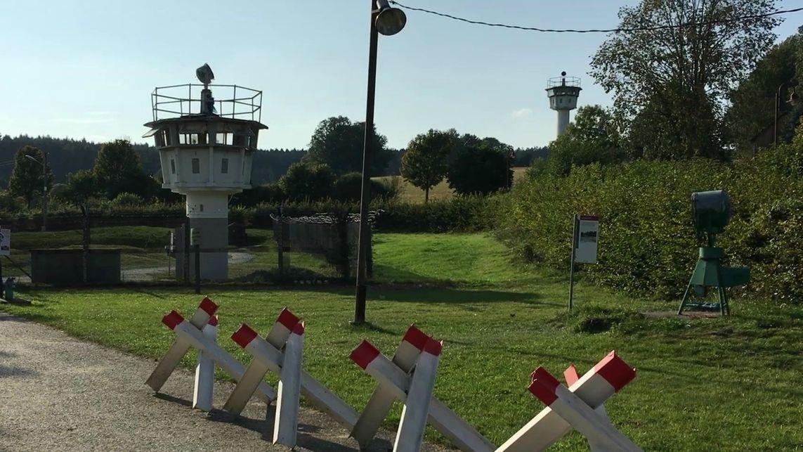 Ein früherer Grenzturm im Museum Mödlareuth.