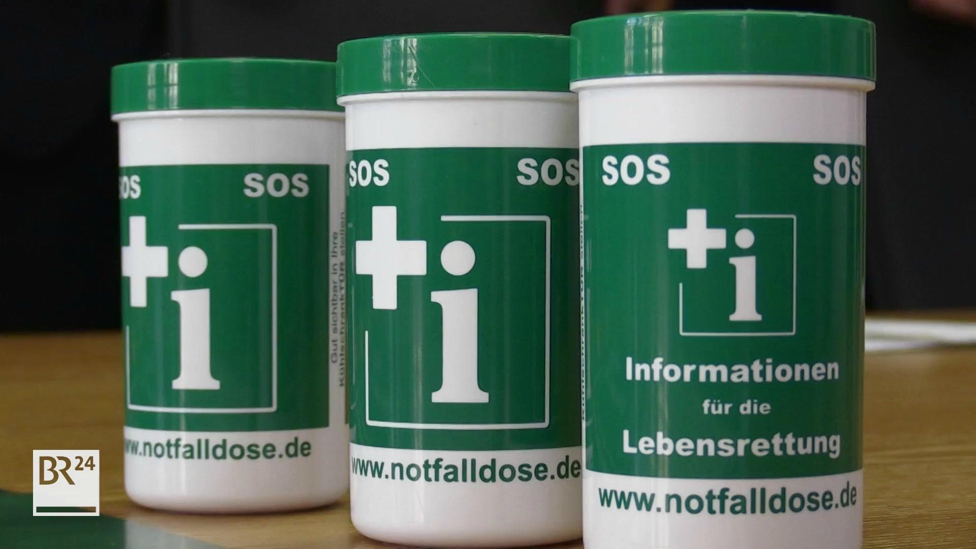Drei Notfalldosen