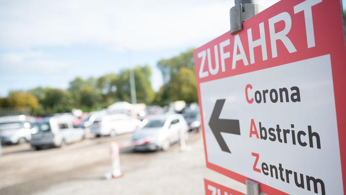 Eine Corona-Teststation in Deutschland.