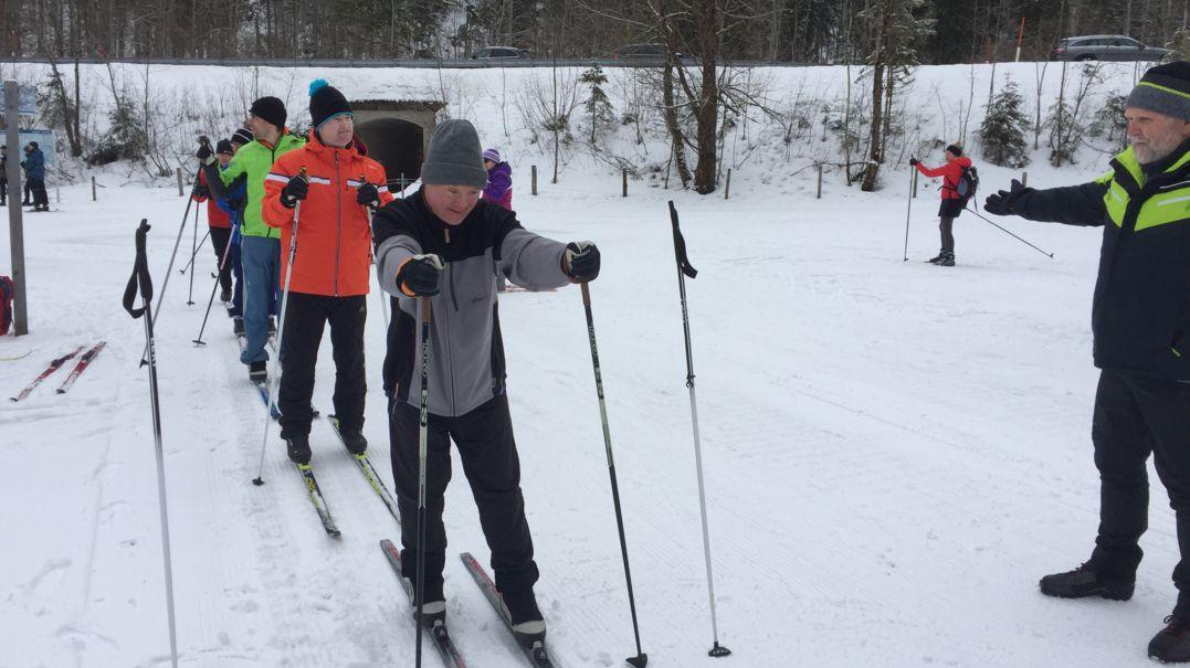 Die Langläufer von der Lebenshilfe Traunstein e.V. bereiten sich vor - bei den Nationalen Special Olympics 2020 in Berchtesgaden