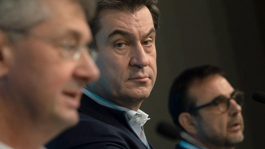 Michael Piazolo, Markus Söder und Klaus Holetschek
