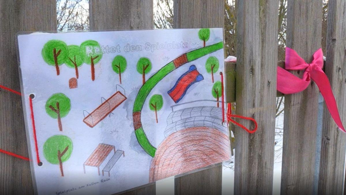 Kinder hoffen auf die Rettung ihres Spielplatzes