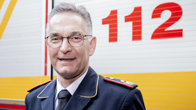 Hartmut Ziebs im Jahr 2018 in der Regierungsfeuerwache Berlin-Tiergarten.