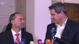 Hubert Aiwanger und Markus Söder | Bild:BR