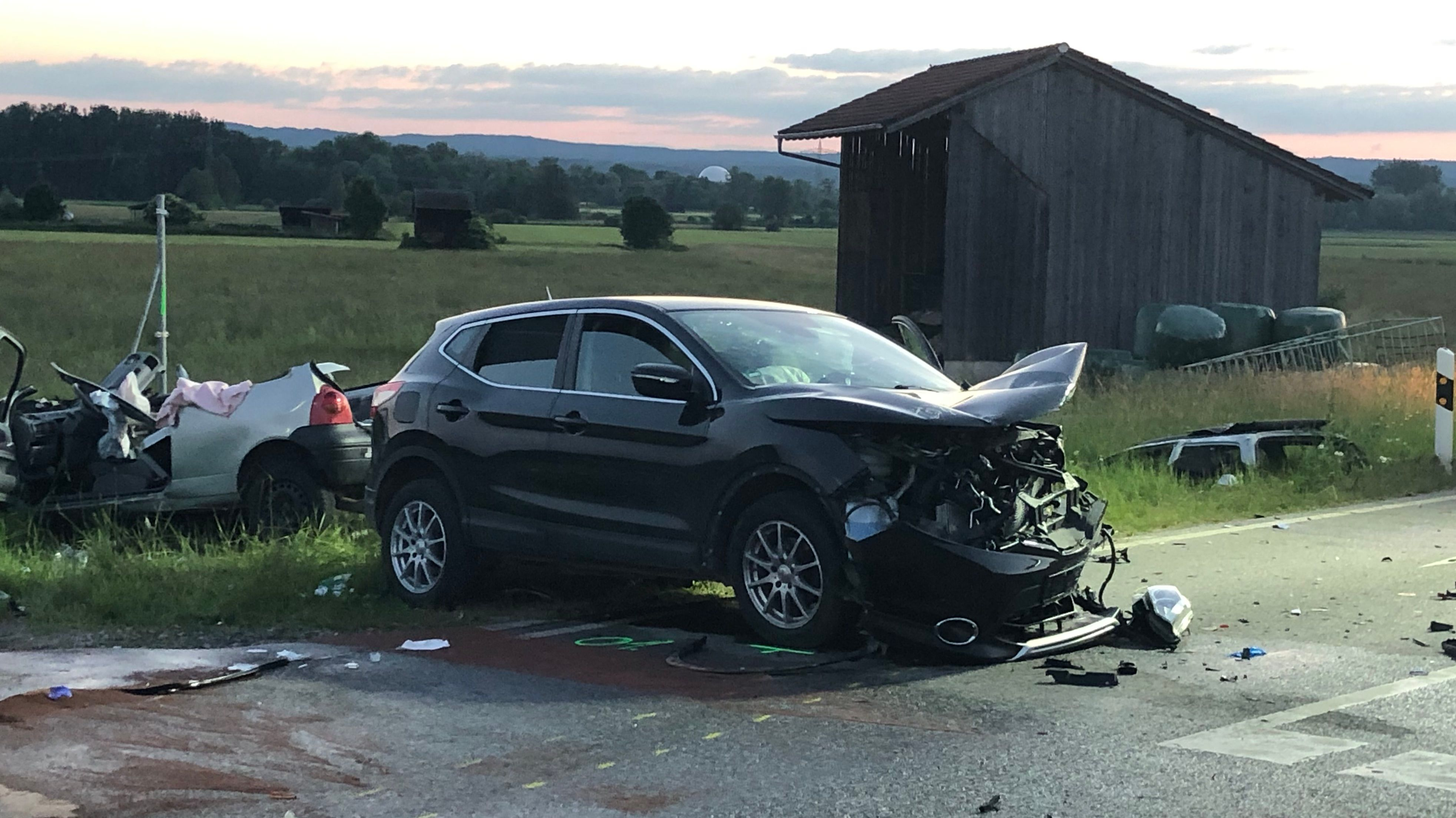 Unfall in Pähl mit mehreren Verletzten