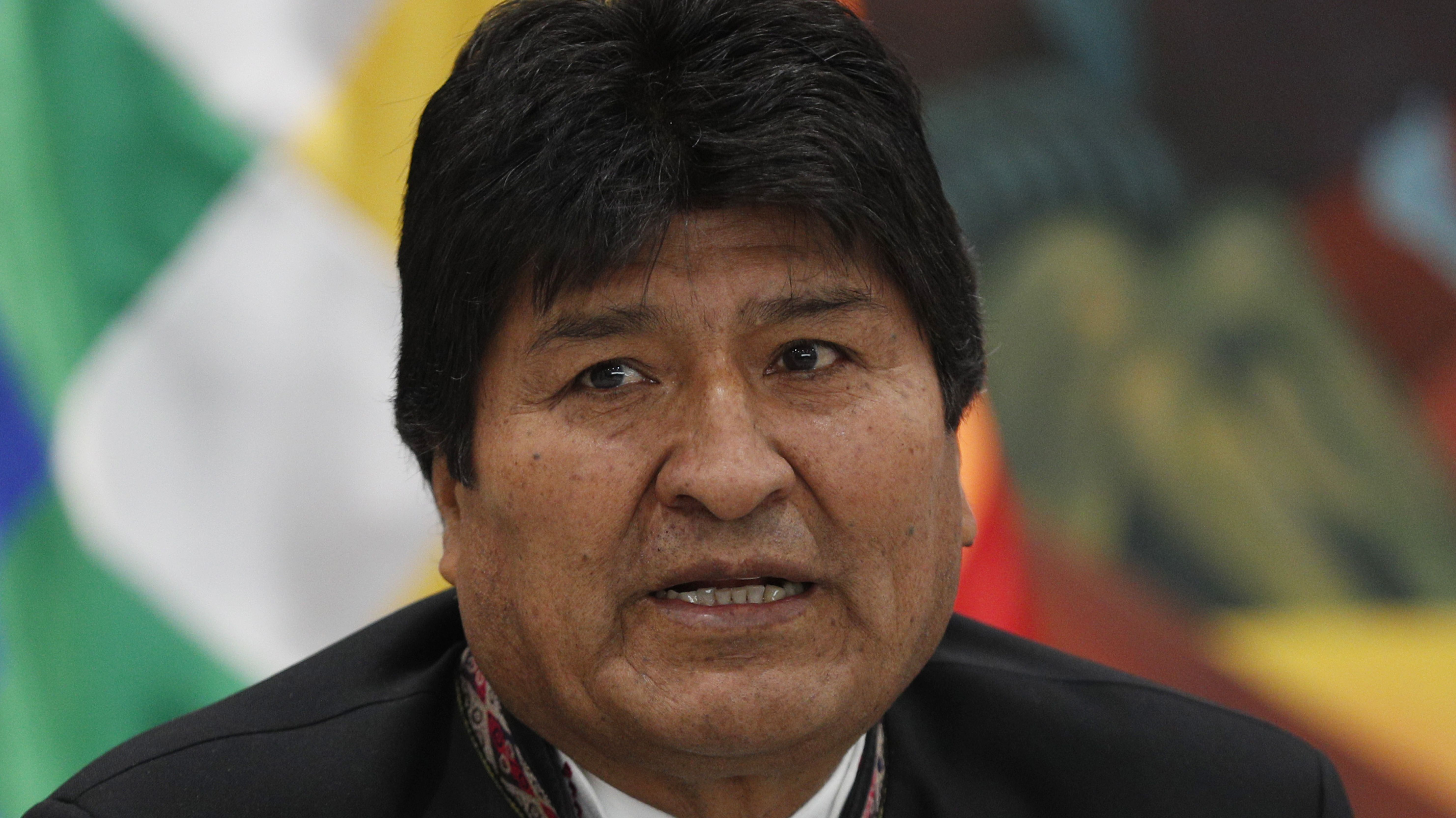 Evo Morales bei einer Pressekonferenz im Präsidentenpalast in La Paz (Archivbild).