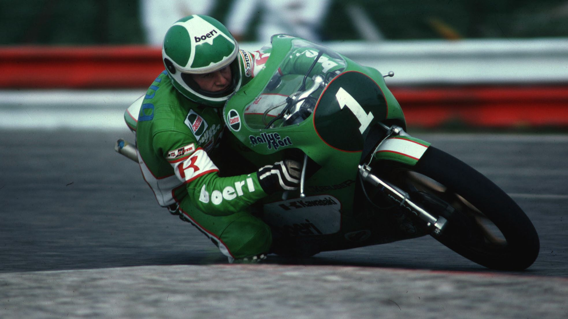 Toni Mang bei einem Grand-Prix-Rennen 1981