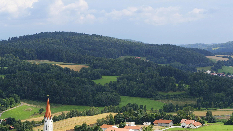Luftbild aus der Oberpfalz