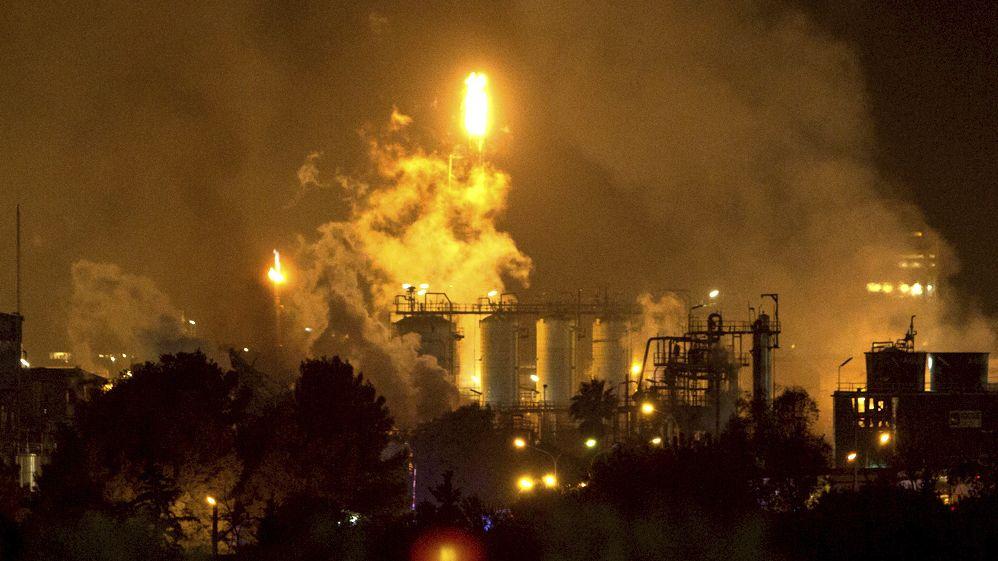 Explosion in spanischer Chemiefabrik