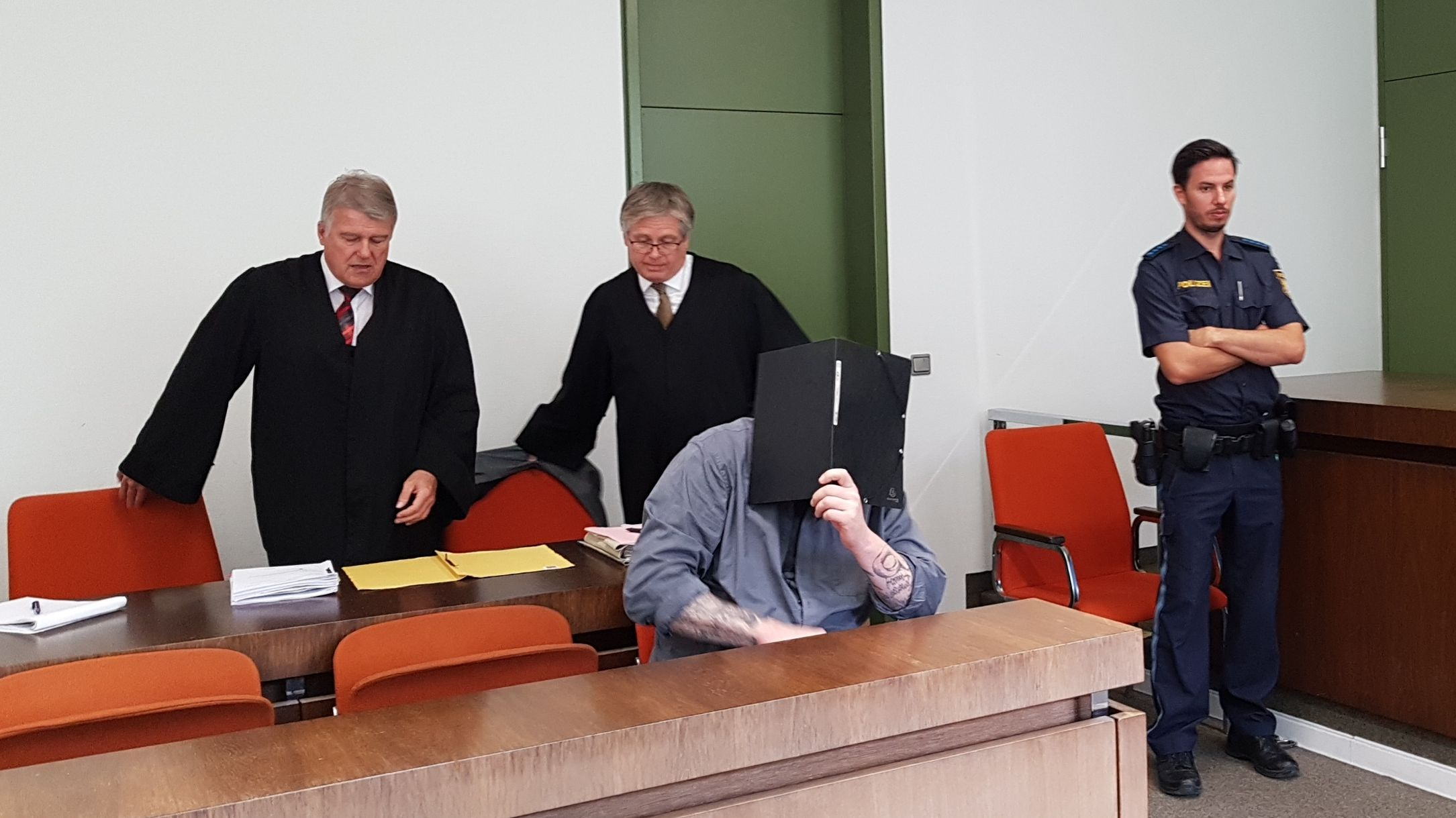 Der Angeklagte im Landgericht München.