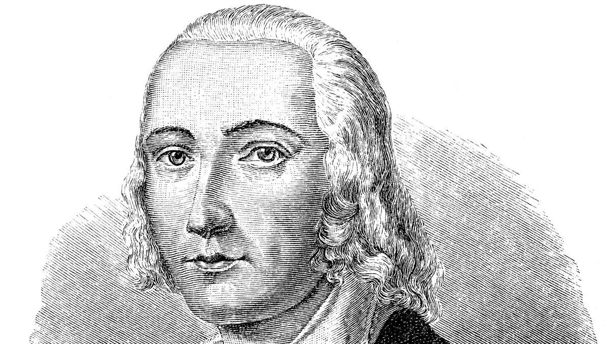 Historische Porträtzeichnung aus dem 19. Jahrhundert von Johann Christian Friedrich Hölderlin
