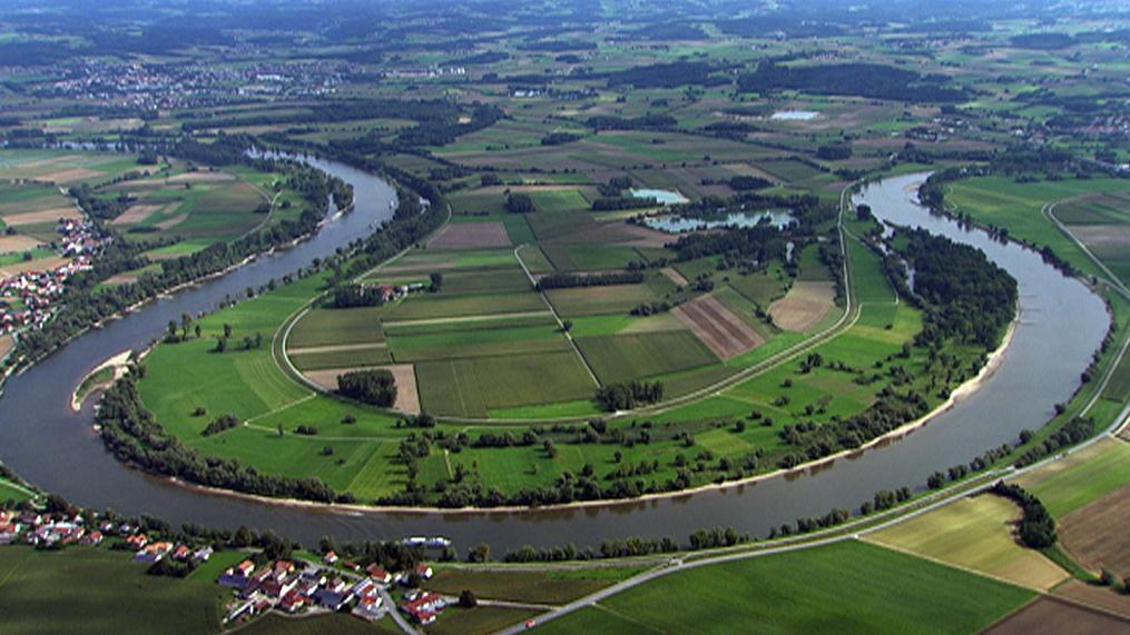 Die Mühlhamer Schleife zwischen Deggendorf und Vilshofen