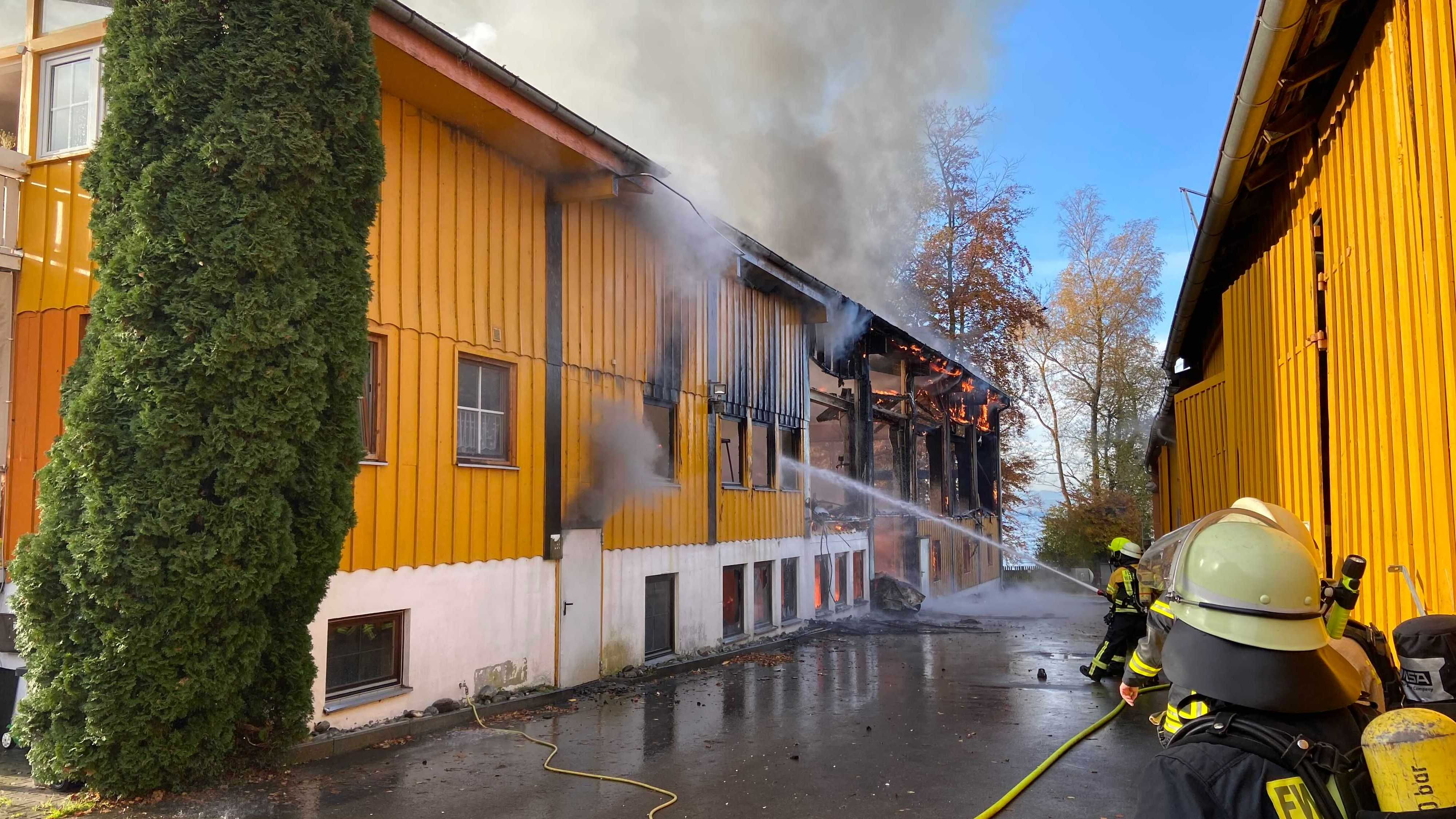 Feuerwehreinsatz in Wasserburg am Bodensee